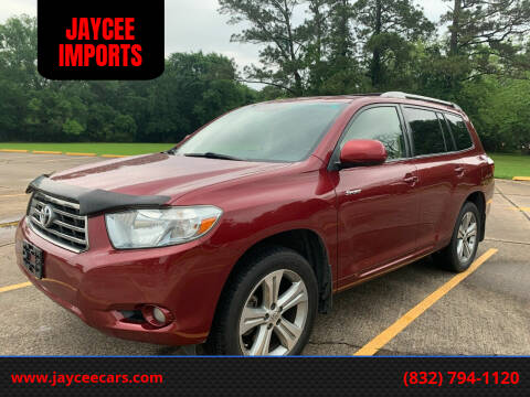 2008 Toyota Highlander for sale at JAYCEE IMPORTS in Houston TX