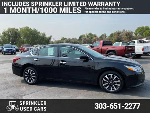 2018 Nissan Altima for sale at Sprinkler Used Cars in Longmont CO