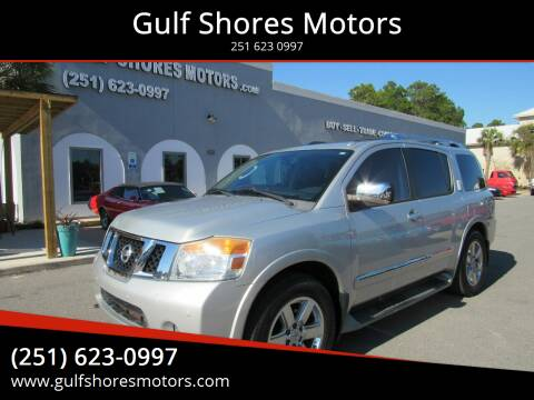 2010 Nissan Armada for sale at Gulf Shores Motors in Gulf Shores AL