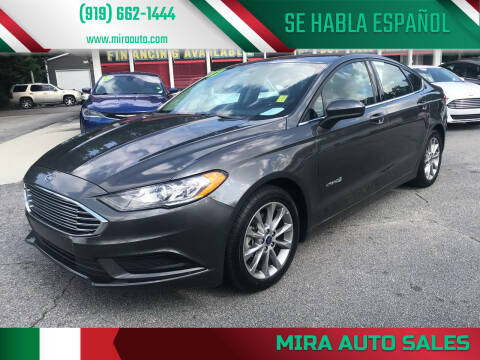 2017 Ford Fusion Hybrid for sale at Mira Auto Sales in Raleigh NC