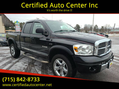 2008 Dodge Ram Pickup 1500 for sale at Certified Auto Center Inc in Wausau WI
