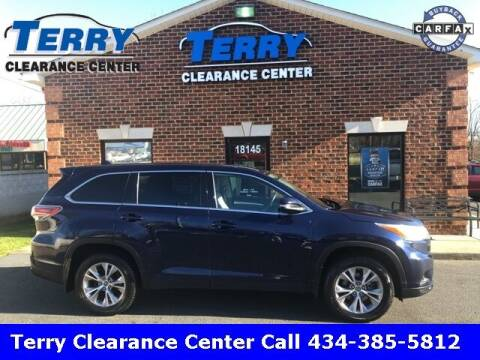 2016 Toyota Highlander for sale at Terry Clearance Center in Lynchburg VA