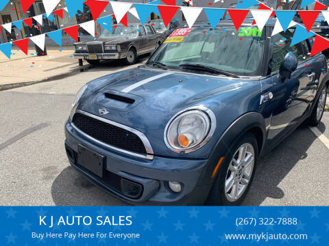 2011 MINI Cooper for sale at K J AUTO SALES in Philadelphia PA