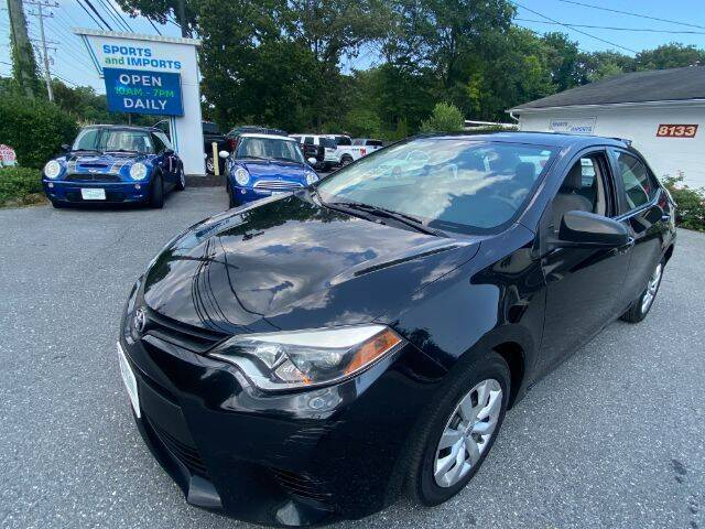 2014 Toyota Corolla for sale at Sports & Imports in Pasadena MD