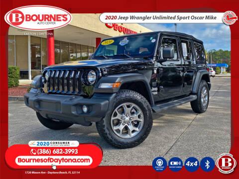 2020 Jeep Wrangler Unlimited for sale at Bourne's Auto Center in Daytona Beach FL