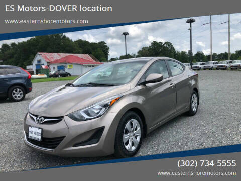 2016 Hyundai Elantra for sale at ES Motors-DAGSBORO location - Dover in Dover DE