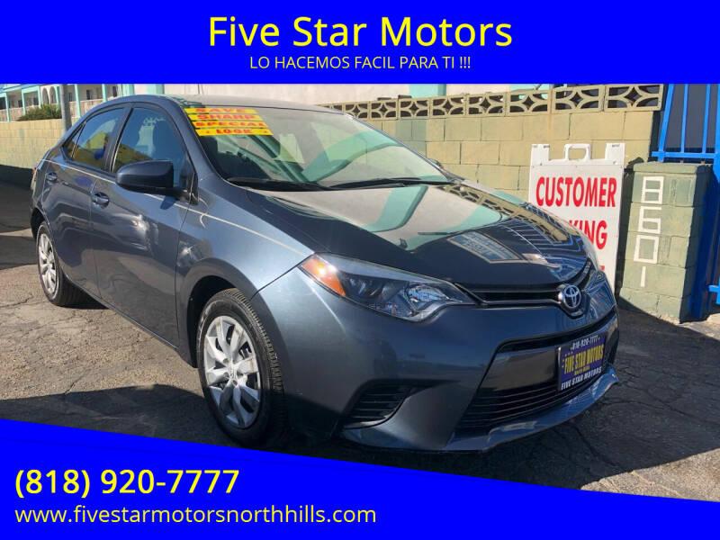 2015 Toyota Corolla for sale in North Hills, CA