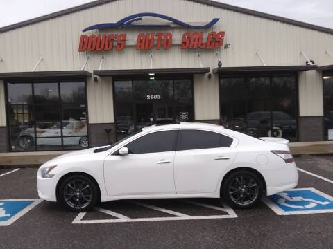 2012 Nissan Maxima for sale at DOUG'S AUTO SALES INC in Pleasant View TN