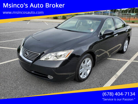 2008 Lexus ES 350 for sale at Msinco's Auto Broker in Snellville GA