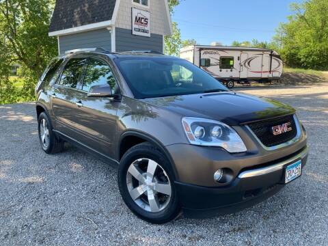 2011 GMC Acadia for sale at MINNESOTA CAR SALES in Starbuck MN