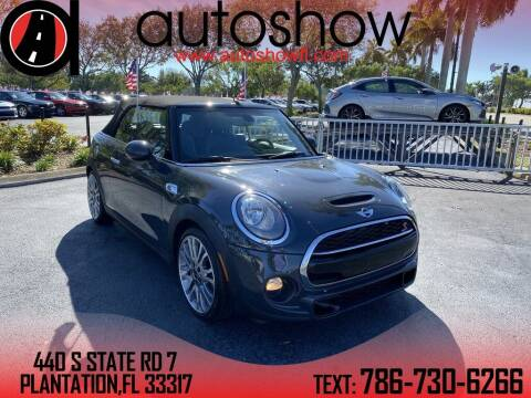 2017 MINI Convertible for sale at AUTOSHOW SALES & SERVICE in Plantation FL