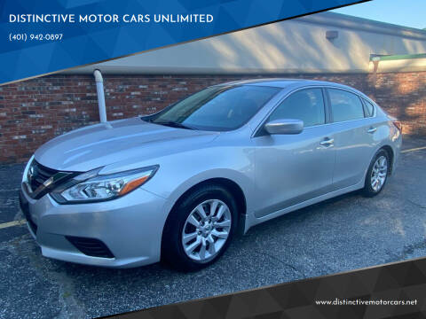 2016 Nissan Altima for sale at DISTINCTIVE MOTOR CARS UNLIMITED in Johnston RI