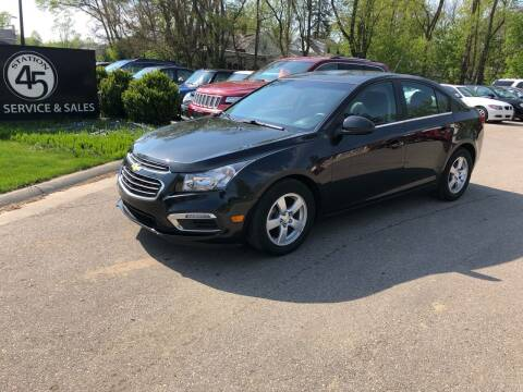 2015 Chevrolet Cruze for sale at Station 45 Auto Sales Inc in Allendale MI