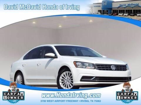 2017 Volkswagen Passat for sale at DAVID McDAVID HONDA OF IRVING in Irving TX
