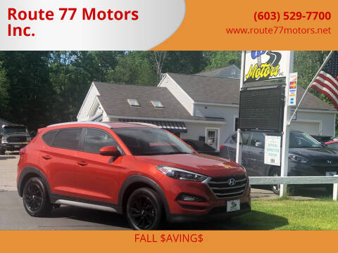 2017 Hyundai Tucson for sale at Route 77 Motors Inc. in Weare NH