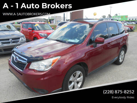 2015 Subaru Forester for sale at A - 1 Auto Brokers in Ocean Springs MS
