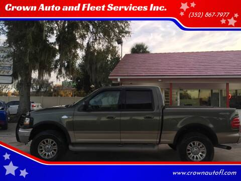 2002 Ford F-150 for sale at Crown Auto and Fleet Services Inc. in Ocala FL
