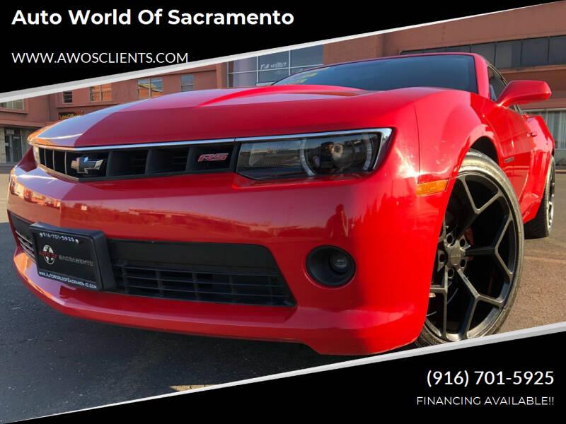 2015 Chevrolet Camaro for sale at Auto World of Sacramento Stockton Blvd in Sacramento CA