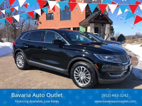 2016 Lincoln MKX for sale at Bavaria Auto Outlet in Victoria MN