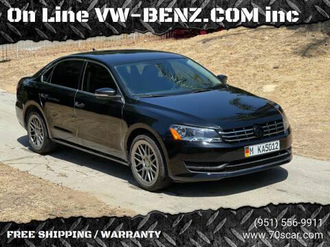 2015 Volkswagen Passat for sale at OnLine VW-BENZ.COM Auto Group in Riverside CA