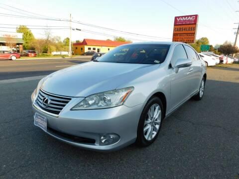2012 Lexus ES 350 for sale at Cars 4 Less in Manassas VA
