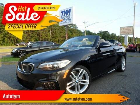 2016 BMW 2 Series for sale at AUTOTYM INC in Fredericksburg VA