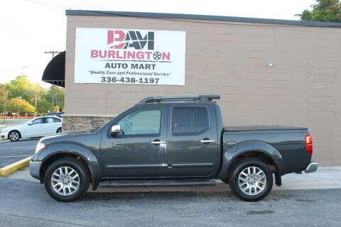 2011 Nissan Frontier for sale at Burlington Auto Mart in Burlington NC