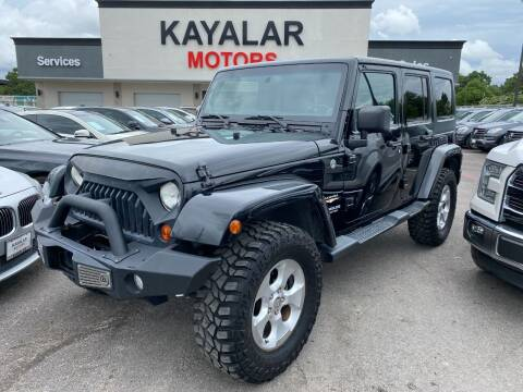 2013 Jeep Wrangler Unlimited for sale at KAYALAR MOTORS in Houston TX