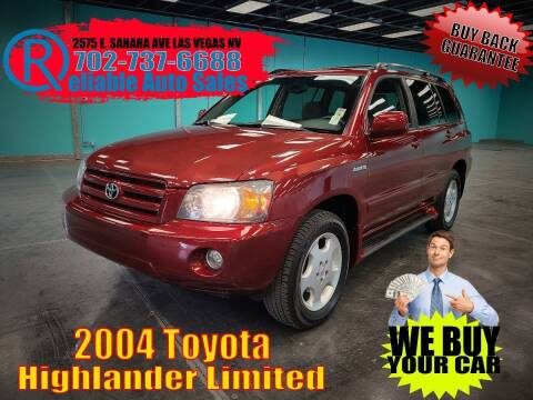 2004 Toyota Highlander for sale at Reliable Auto Sales in Las Vegas NV