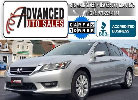 2015 Honda Accord for sale at Advanced Auto Sales in Dracut MA