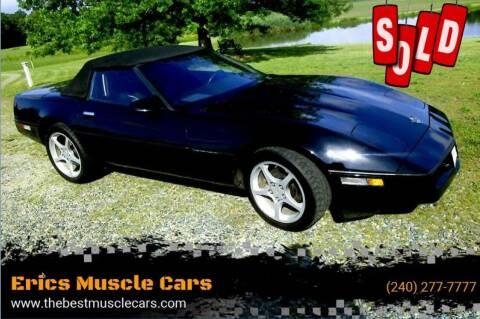 1989 Chevrolet Corvette for sale at Erics Muscle Cars in Clarksburg MD