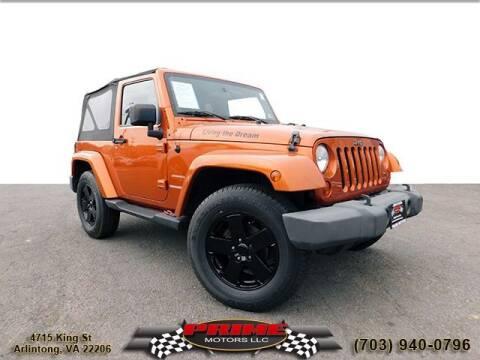 2010 Jeep Wrangler for sale at PRIME MOTORS LLC in Arlington VA