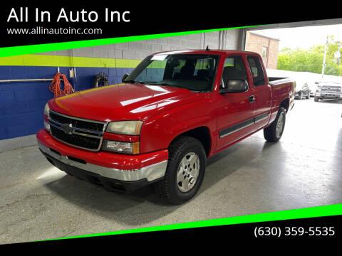 2006 Chevrolet Silverado 1500 for sale at All In Auto Inc in Addison IL