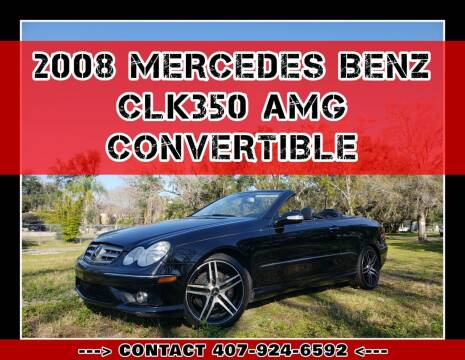 2008 Mercedes-Benz CLK for sale at AFFORDABLE ONE LLC in Orlando FL