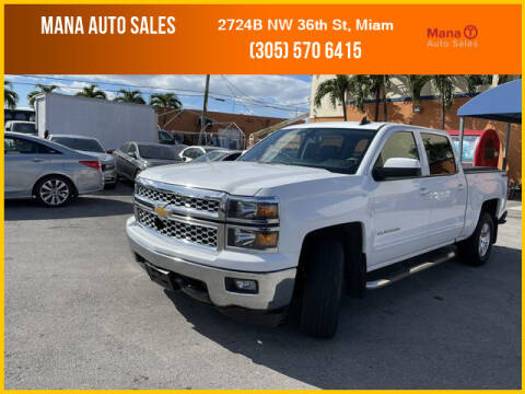 2015 Chevrolet Silverado 1500 for sale at MANA AUTO SALES in Miami FL