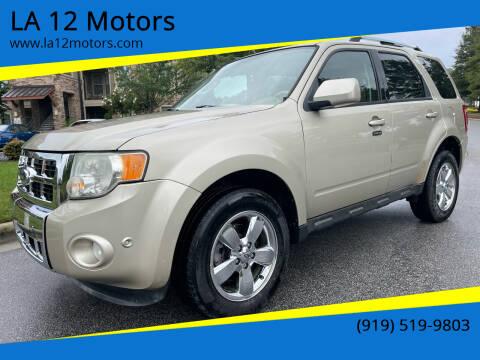 2010 Ford Escape for sale at LA 12 Motors in Durham NC