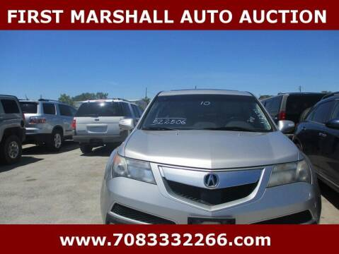 2010 Acura MDX for sale at First Marshall Auto Auction in Harvey IL