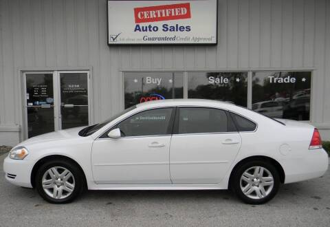 2013 Chevrolet Impala for sale at Certified Auto Sales in Des Moines IA