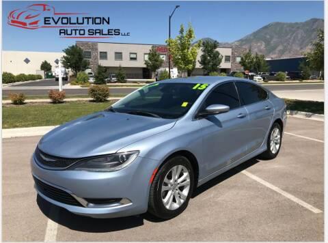 2015 Chrysler 200 for sale at Evolution Auto Sales LLC in Springville UT