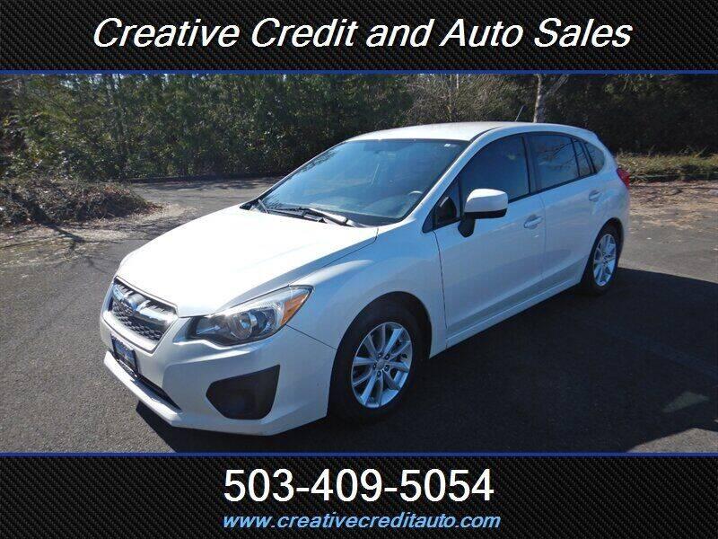2014 Subaru Impreza for sale at Creative Credit & Auto Sales in Salem OR