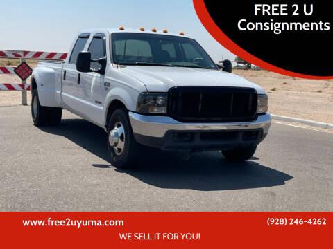 2000 Ford F-350 Super Duty for sale at FREE 2 U Consignments in Yuma AZ