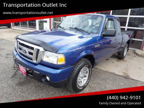 2010 Ford Ranger for sale at Transportation Outlet Inc in Eastlake OH