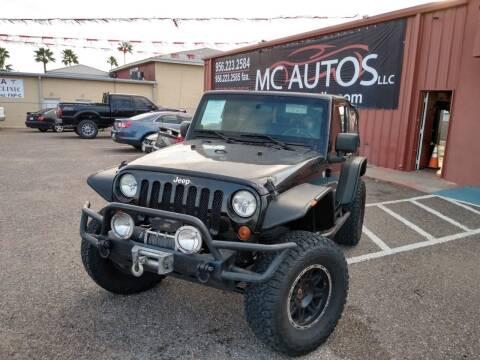 2010 Jeep Wrangler for sale at MC Autos LLC in Pharr TX