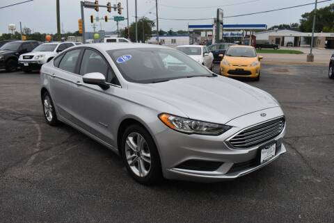 2018 Ford Fusion Hybrid for sale at World Class Motors in Rockford IL