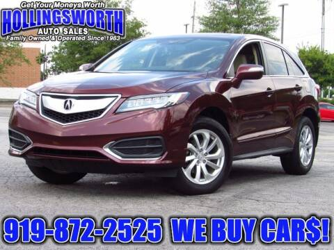 2017 Acura RDX for sale at Hollingsworth Auto Sales in Raleigh NC