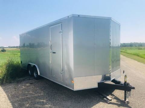 2022 Wells Cargo 8.5x20 V-nose Tandem Axle 7K for sale at Forkey Auto & Trailer Sales in La Fargeville NY
