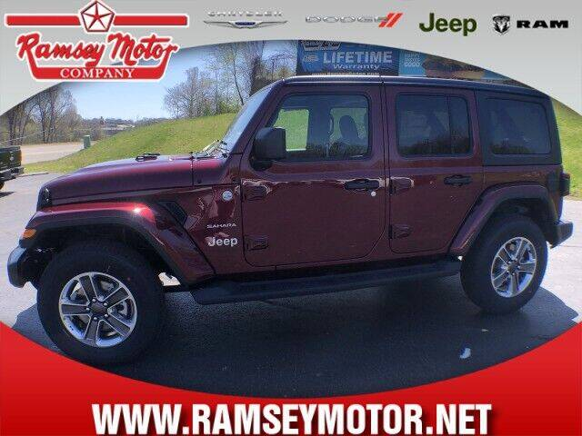 2021 Jeep Wrangler Unlimited for sale at RAMSEY MOTOR CO in Harrison AR