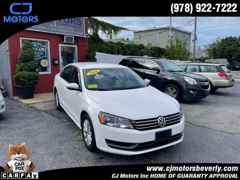 2012 Volkswagen Passat for sale at CJ Motors Inc. in Beverly MA