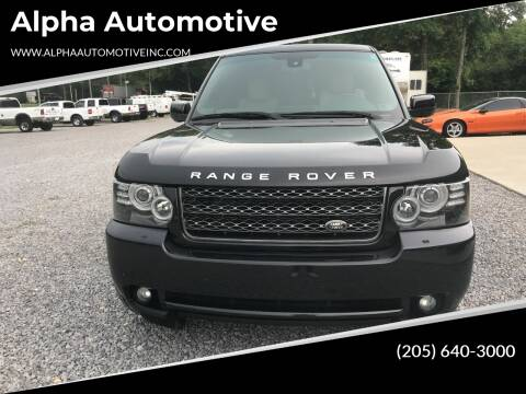 2012 Land Rover Range Rover for sale at Alpha Automotive in Odenville AL