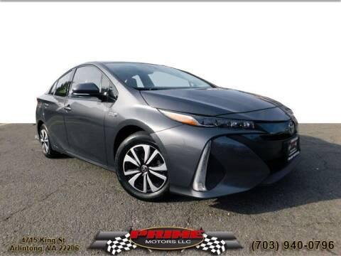 2017 Toyota Prius Prime for sale at PRIME MOTORS LLC in Arlington VA